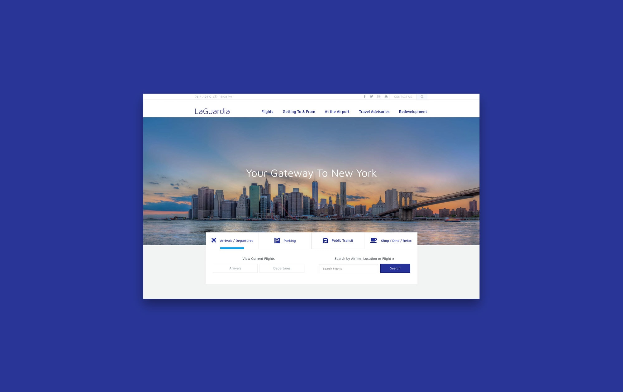 LaGaurdia Airport Website Design